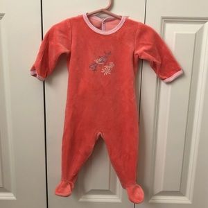 Petit Bateau Long-sleeve footed onesie back snaps